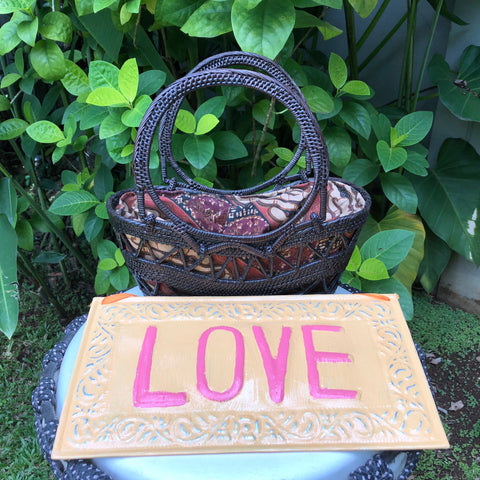 Love Sign and Bag