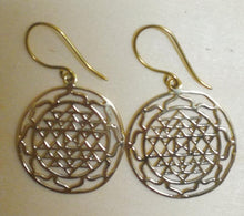 Brass Jewelry For The Spirit - Sri Yantra Earrings