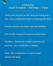 YIN Stone Designs: Cleansing (Small Pendant) Description Card