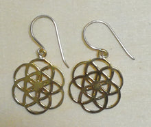 Brass Jewelry For The Spirit - Seed of Life Earrings