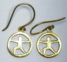 Yoga Poses Earrings: Warrior (Brass)