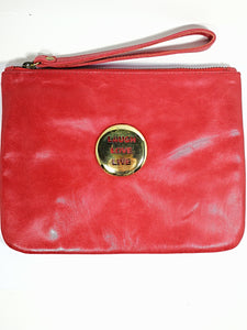 Red Leather Love Laugh Live Bags