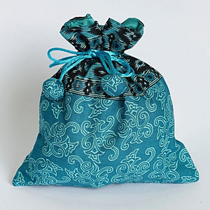 Small reusable gift bags lined with satin