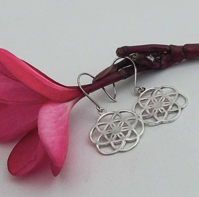Silver Jewelry For The Spirit - Seed of Life Earrings