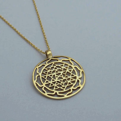 Brass Jewelry For The Spirit - Flower of Life Pendant