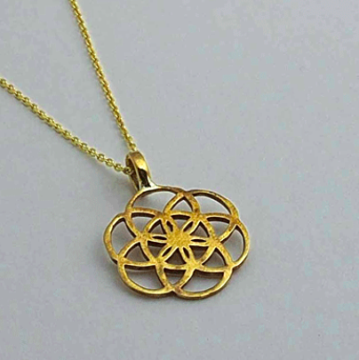 Brass Jewelry For The Spirit - Seed of Life Pendant