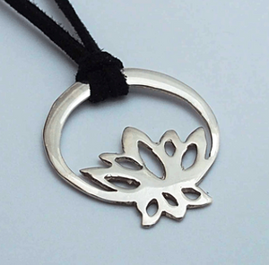 Silver Mule Jewels: Lotus Secret Pendant