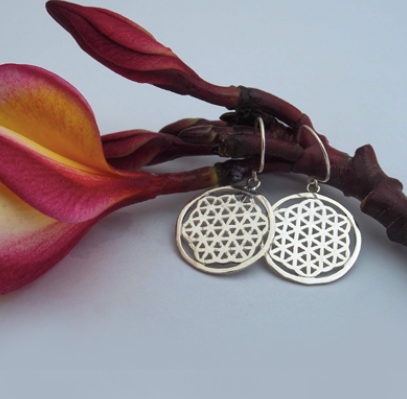 Silver Jewelry For The Spirit - Flower Of Life Earrings