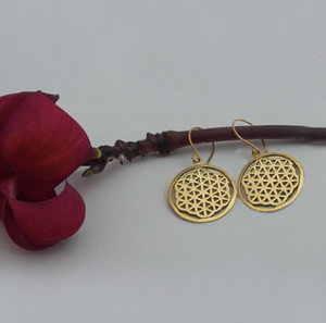 Brass Jewelry For The Spirit - Flower Of Life Earrings