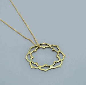 Brass Jewelry For The Spirit: Lotus Mandala Filigree Pendant