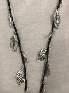 Balinese Feather and Leaves Necklace