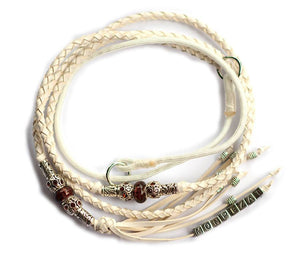 Kangaroo leather show lead in white - Emoticon Kangaroo Leather Show Leads