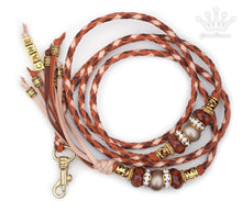 Kangaroo leather show lead in saddle tan, natural & whisky - Emoticon Kangaroo Leather Show Leads
