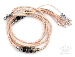 Kangaroo leather show lead in natural - Emoticon Kangaroo Leather Show Leads