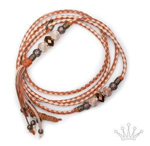 Kangaroo leather show lead in natural and saddle tan - Emoticon Kangaroo Leather Show Leads