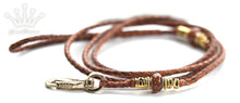 Kangaroo leather show lead in whisky & saddle tan - Emoticon Kangaroo Leather Show Leads