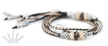 Kangaroo leather show lead in natural & black - Emoticon Kangaroo Leather Show Leads