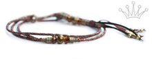 Kangaroo leather show lead in burgundy, bronze & whisky - Emoticon Kangaroo Leather Show Leads