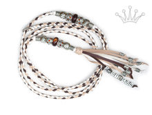 Kangaroo leather show lead in dark brown, white & natural - Emoticon