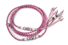 Kangaroo leather show lead in cerise, hot pink & soft pink - Emoticon
