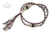 Kangaroo leather show lead in black, whisky & natural - Emoticon