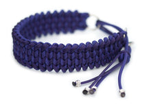 Martingale paracord collar in Acid Purple & Black Stripes / Royal Purple
