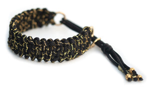 Martingale paracord collar in Black & Gold Glitter