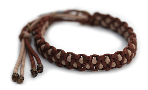 Martingale paracord collar in Chocolate Brown & Sand