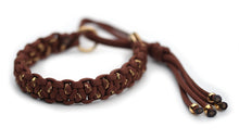 Martingale paracord collar in Chocolate Brown / Chocolate Brown & Gold Glitter