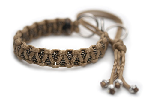 Martingale paracord collar in Gold - Gold Diamonds