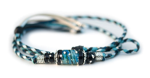Kangaroo leather show lead in black, baby blue, sky blue & royal blue