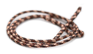 Kangaroo leather show lead in whisky, dark brown, natural & copper