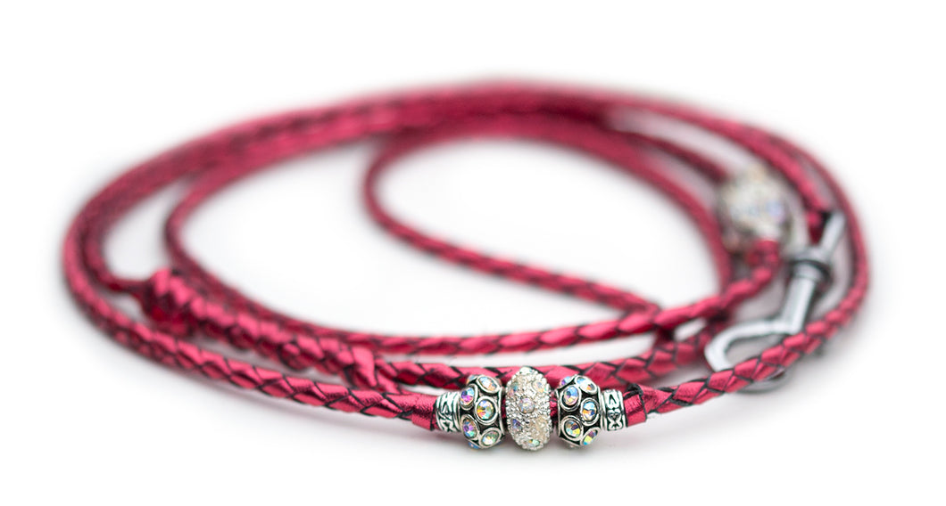 Kangaroo leather show lead in lipstick pink
