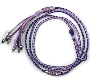 Kangaroo leather show lead in purple & lavender