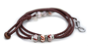 Kangaroo leather show lead in brandy - Emoticon Kangaroo Leather Show Leads