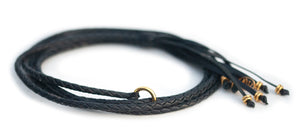 Kangaroo leather show lead in black