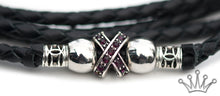 Kangaroo leather show lead in black - Emoticon Kangaroo Leather Show Leads