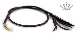 Kangaroo leather show lead in black & whisky - Emoticon