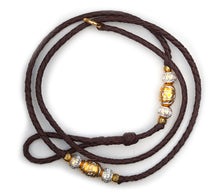 Kangaroo leather show lead in dark brown