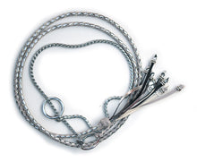 Kangaroo leather show lead in dove grey & silver