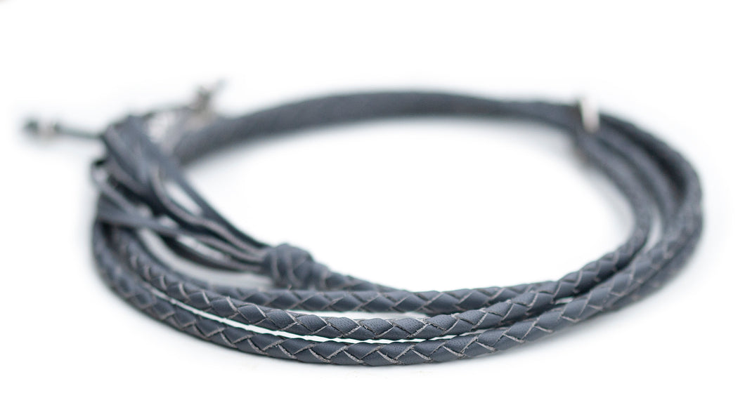Kangaroo leather show lead in grey