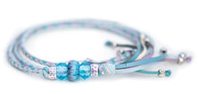 Kangaroo leather show lead in baby blue, sky blue & lavender