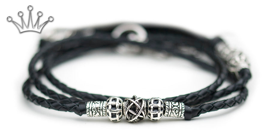 Kangaroo leather show lead in black - Emoticon