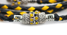 Kangaroo leather show lead in black & yellow - Emoticon