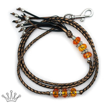 Kangaroo leather show lead in bronze - Emoticon Kangaroo Leather Show Leads
