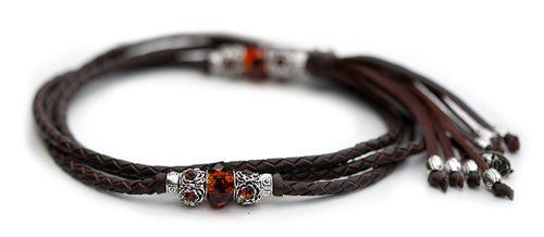 Kangaroo leather show lead in chocolate - Emoticon Kangaroo Leather Show Leads