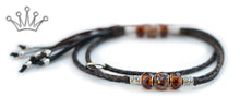 Kangaroo leather show lead in chocolate & black - Emoticon