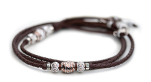 Kangaroo leather show lead in dark brown - Emoticon Kangaroo Leather Show Leads