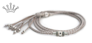 Kangaroo leather show lead in dove grey - Emoticon Kangaroo Leather Show Leads