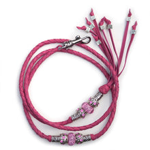 Kangaroo leather show lead in hot pink - Emoticon Kangaroo Leather Show Leads